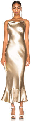 Saloni Stella Dress in White Gold | FWRD