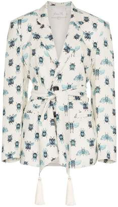 Johanna Ortiz La Comparsa insect print tassel blazer