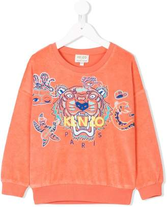 Kenzo logo embroidered towelling sweatshirt