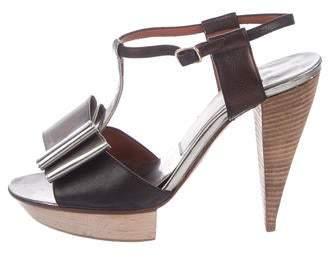 Lanvin Platform T-Strap Sandals