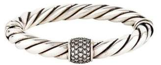 David Yurman Diamond Cable Hinged Bangle
