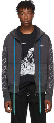 Off-White Black Abstract Arrows Slim Zip Hoodie