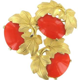 Vintage Schiaparelli Orange Gold plated Pins & brooches