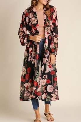 Umgee USA Floral Bohemian Kimono
