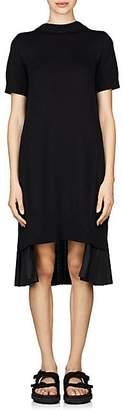 Sacai Women's Cotton-Blend Open-Back Dress - Black