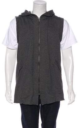 Skingraft Sleeveless Zip-Up Hoodie