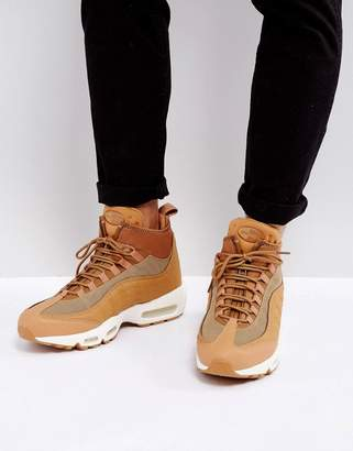 Nike 95 Sneakerboots Flax Sneakers In Beige 806809-201