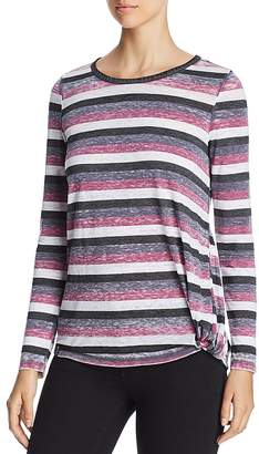 Andrew Marc Performance Striped Long-Sleeve Tee