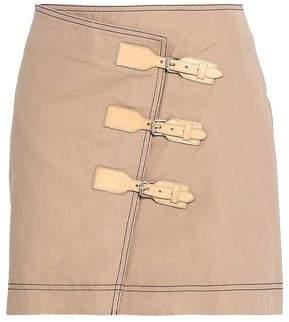 Ganni Buckled Cotton-twill Mini Skirt