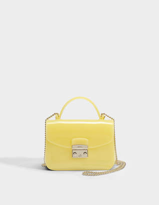 Furla Candy Meringa Mini Crossbody Bag in Cedro PVC