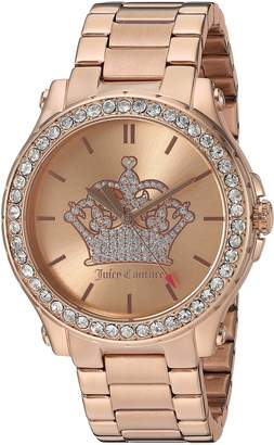 Juicy Couture Women's 'Hollywood' Quartz Gold Automatic Watch(Model: 1901473)