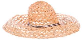 Gucci Straw Wide-Brim Hat