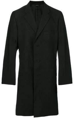 Issey Miyake creased single-breasted coat