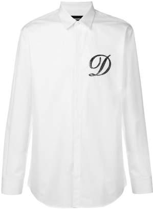 DSQUARED2 logo sequin embellished shirt
