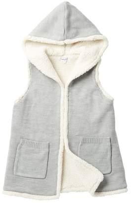Splendid Hooded Faux Fur Lined Vest (Big Girls)