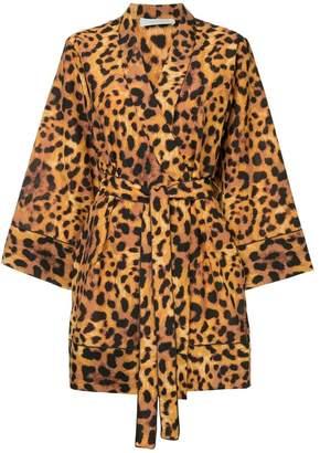 The Upside leopard print wrap dress