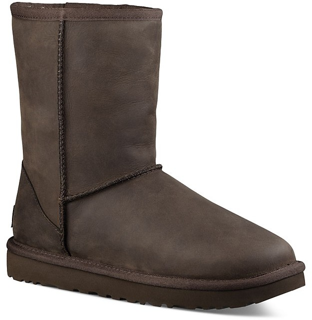 UGG UGG® Classic Short Leather and Sheepskin Booties