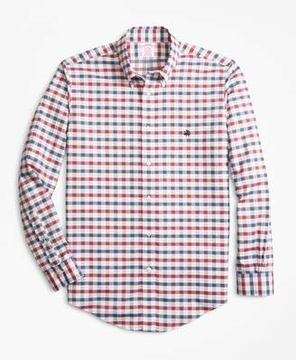Brooks Brothers Non-Iron Madison Fit Dobby Gingham Sport Shirt