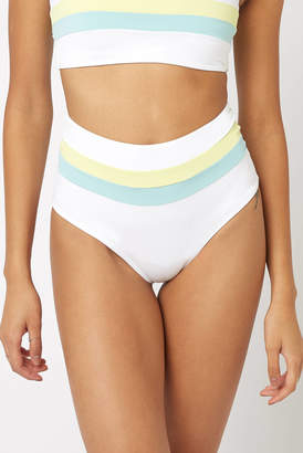 L-Space Portia Stripe High Waist Bikini Bottom