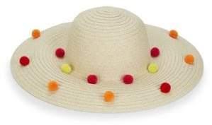 BCBGeneration Funfetti Pom-Pom Sun Hat