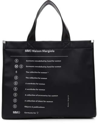 MM6 MAISON MARGIELA (エムエム6 メゾン マルジェラ) - Mm6 Maison Margiela MM6 Maison Margiela ブラック ロゴ トート バッグ