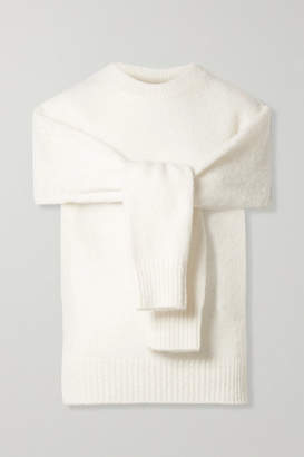 Helmut Lang Cutout Wool-blend Sweater - Cream
