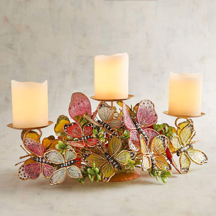Bright Butterfly Multiple Candle Holder