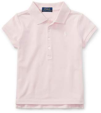 Ralph Lauren Childrenswear Little Girl's Mesh Short-Sleeve Polo Tee