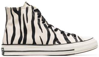 Converse black and white Chuck Taylor All Stars 70s zebra print high-top sneakers