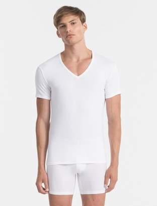 Calvin Klein modern cotton stretch 2 pack v-neck t-shirt