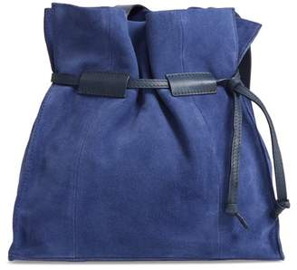 Leith Pull String Faux Leather Bucket Bag