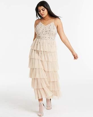 c9ec71682 Joanna Hope Beaded Tiered Maxi Dress