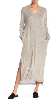 Lush Long Sleeve Hooded Sweater Dress