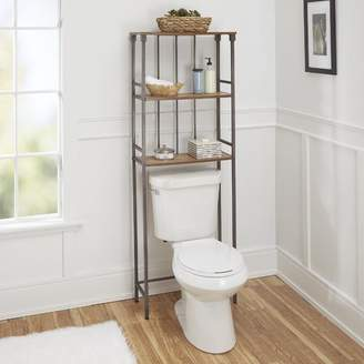 """Co The Twillery Huette Mixed Material 3-Tier 24"""" W x 65.75"""" H Over the Toilet Storage"""