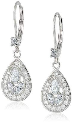 Platinum-Plated 925 Sterling Silver Multi-Stone AAA Cubic Zirconia Earrings (0.4 cttw)