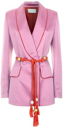 Peter Pilotto Satin Rope Belt Blazer