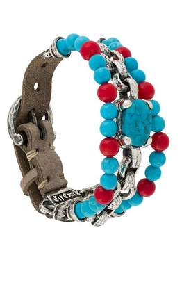 Elf Craft turquoise and coral bracelet