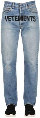 Vetements Levi's Embroidered Denim Jeans