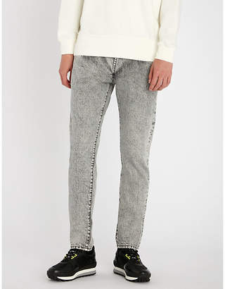 Givenchy Two-tone slim-fit straight jeans