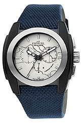 Breil Milano Men's Stainless Steel and Leather Casual Watch