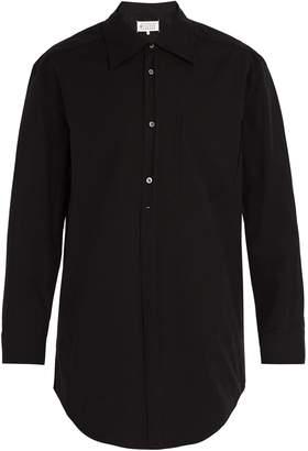 Maison Margiela Oversized ripped-pocket shirt