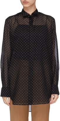 J.Cricket 'Tuxedo' winged collar polka dot print shirt