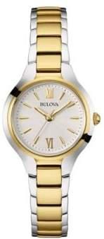 Bulova Ladies' Classic Two Tone Gold Watch- 98L217