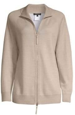 Lafayette 148 New York Wool Turtleneck Jacket