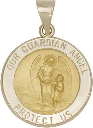 JCPenney FINE JEWELRY 14K Yellow Gold Guardian Angel Medallion Pendant