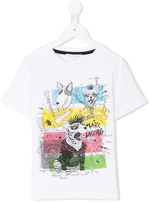 Little Marc Jacobs rock band print T-shirt