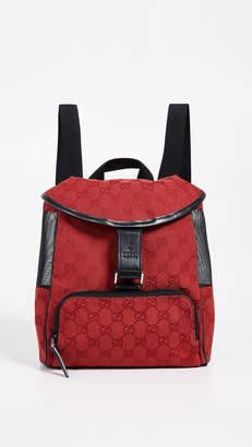 Gucci What Goes Around Comes Around Canvas Backpack