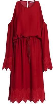 IRO Off-The-Shoulder Crepe Midi Dress