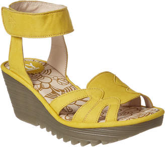 Fly London Yasa Leather Wedge Sandal