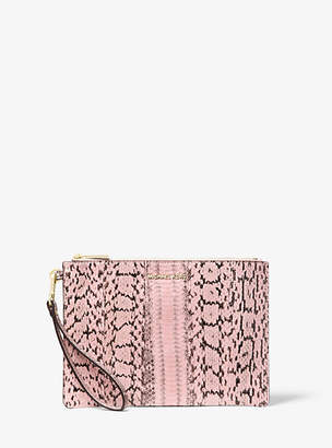 Michael Kors Medium Snakeskin Pouch